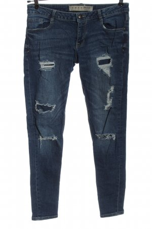 Denim Co. Jeans taille basse bleu style décontracté