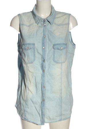 Denim Co. Blouse en jean bleu style décontracté