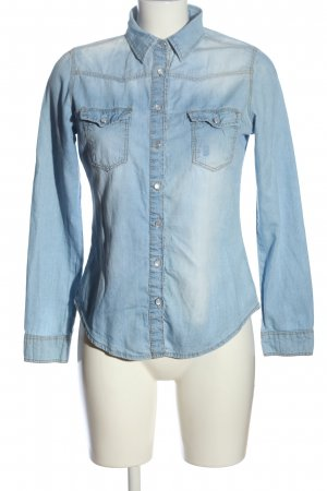 Denim Co. Jeansbluse blau Casual-Look