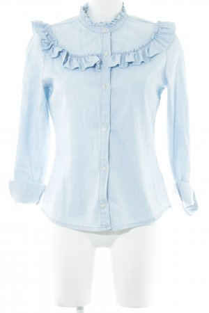 Denim Co. Jeansbluse blau Business-Look