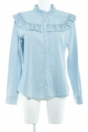Denim Co. Jeansbluse himmelblau Casual-Look
