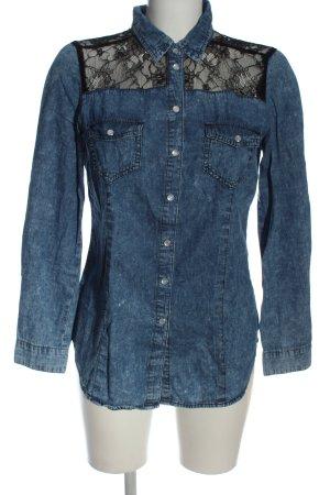 Denim Co. Jeansowa koszula niebieski-czarny W stylu casual