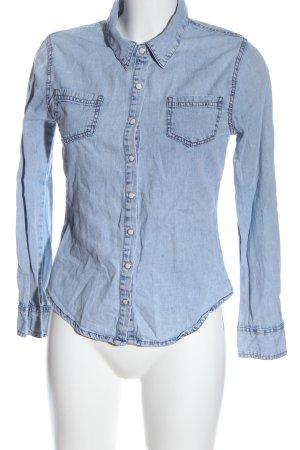 Denim Co. Camisa vaquera azul look casual