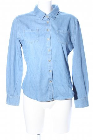 Denim Co. Camisa vaquera azul look casual