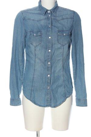 Denim Co. Jeansowa koszula niebieski W stylu casual