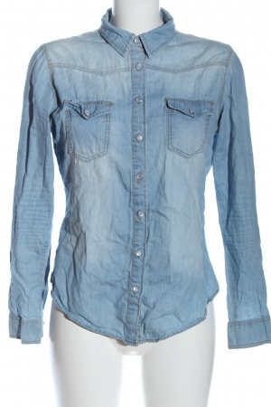 Denim Co. Jeanshemd blau Casual-Look