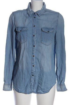Denim Co. Jeanshemd blau Casual-Look