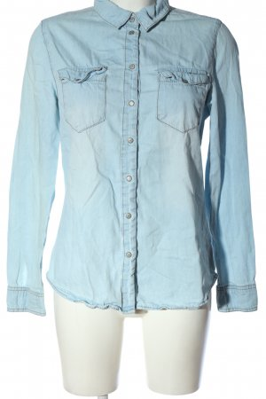 Denim Co. Denim Shirt blue casual look