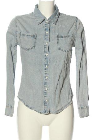 Denim Co. Jeansowa koszula jasnoszary W stylu casual
