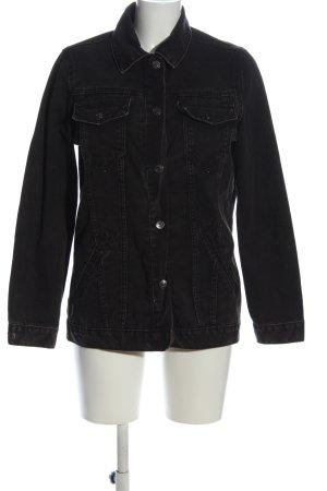 Denim Co. Veste en jean noir style décontracté