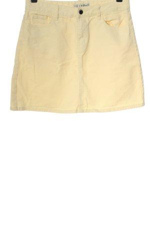 Denim Co. Jupe en jeans jaune primevère style décontracté