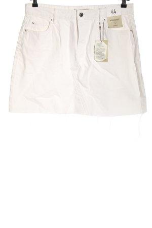 Denim Co. Jupe en jeans blanc style décontracté