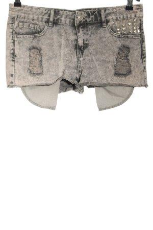 Denim Co. Short en jean gris clair style décontracté