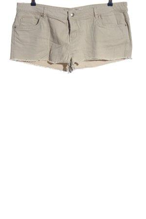 Denim Co. Pantalón corto de tela vaquera blanco puro look casual