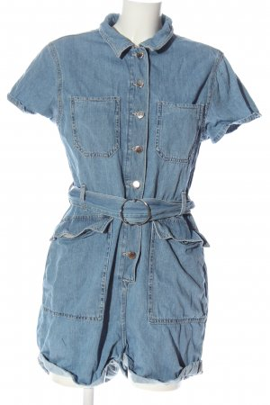 Denim Co. Kurzer Jumpsuit blau Casual-Look