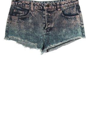 Denim Co. Pantaloncino di jeans blu-rosa Colore sfumato stile casual