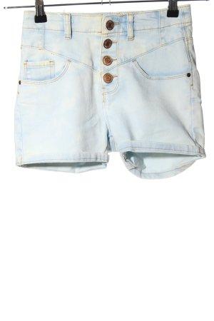 Denim Co. Jeansshorts blau-blassgelb Casual-Look