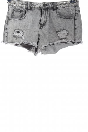 Denim Co. Pantalón corto de tela vaquera gris claro look casual