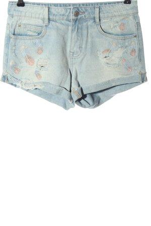 Denim Co. Denim Shorts blue-pink themed print casual look