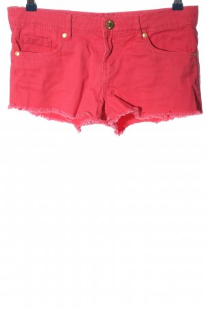 Denim Co. Jeansshorts rot Casual-Look
