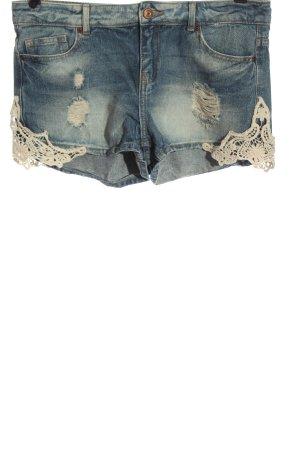 Denim Co. Denim Shorts blue-white casual look