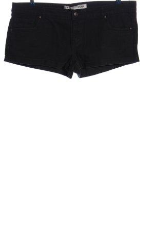 Denim Co. Pantalón corto de tela vaquera negro look casual