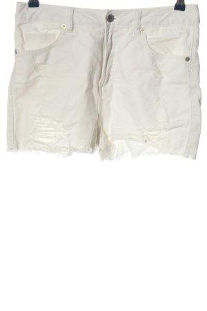 Denim Co. Short en jean blanc style décontracté