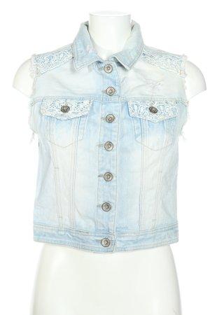 Denim Co. Jeansweste blau Casual-Look