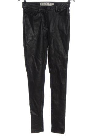 Denim Co. Pantalon en simili brun style décontracté