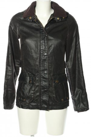 Denim Co. Kunstlederjacke schwarz Casual-Look