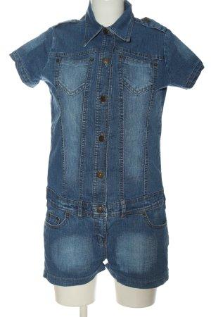 Denim Co. Kurzer Jumpsuit bleu style décontracté