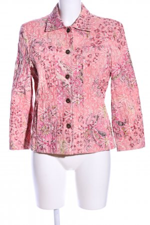 Denim Co. Kurzjacke pink-creme Allover-Druck Casual-Look