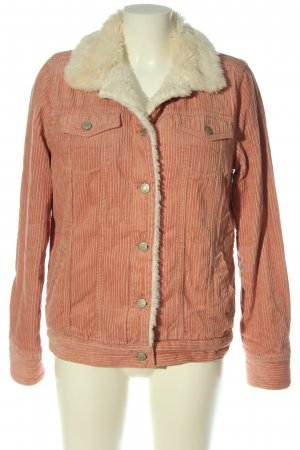 Denim Co. Short Jacket pink-white casual look