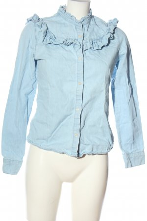 Denim Co. Langarm-Bluse blau Casual-Look