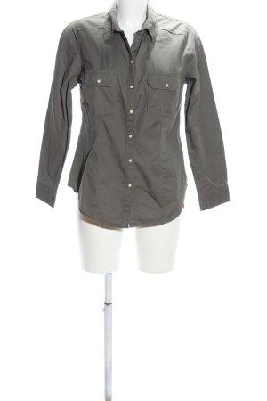 Denim Co. Langarmhemd khaki Business-Look