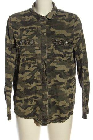 Denim Co. Langarmhemd Camouflagemuster Casual-Look