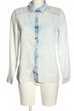 Denim Co. Langarmhemd blau-weiß Casual-Look