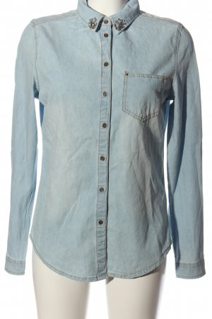 Denim Co. Langarmhemd blau Casual-Look