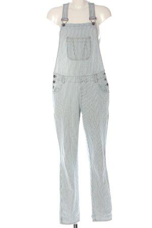 Denim Co. Bib Denim blue-white striped pattern casual look
