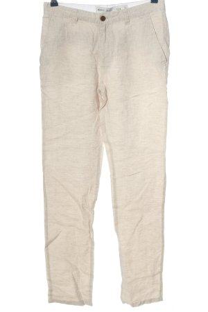 Denim Co. Lniane spodnie w kolorze białej wełny W stylu casual