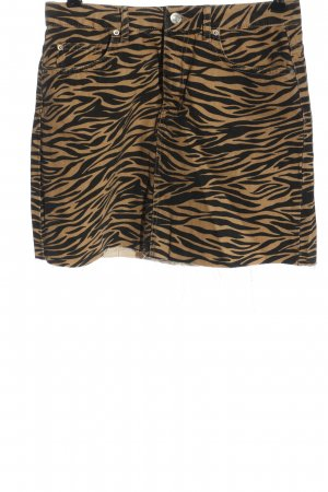 Denim Co. Mini-jupe crème-noir imprimé allover style décontracté