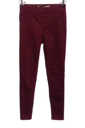 Denim Co. Röhrenhose rot Casual-Look