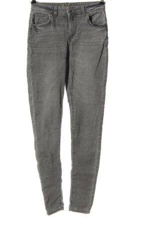 Denim Co. Pantalon cigarette gris clair style décontracté