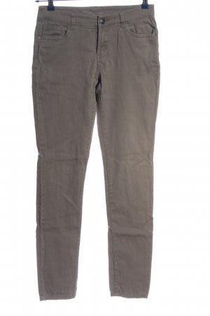 Denim Co. Röhrenhose hellgrau Casual-Look
