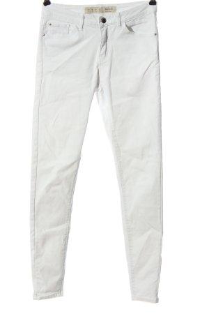 Denim Co. Pantalon cigarette blanc style décontracté