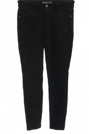 Denim Co. Drainpipe Trousers black casual look