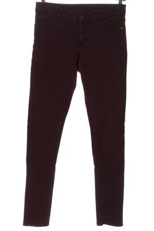 Denim Co. Jeans cigarette rouge style décontracté
