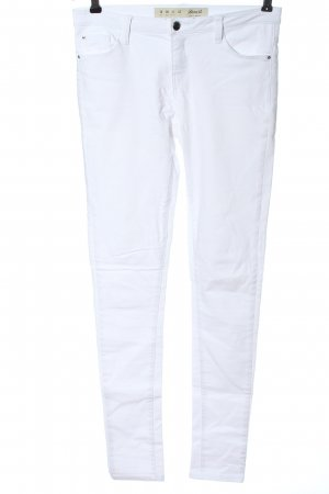 Denim Co. Tube Jeans white casual look