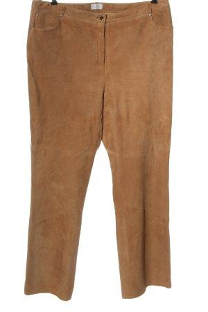 Denim Co. Pantalon en cuir brun style décontracté