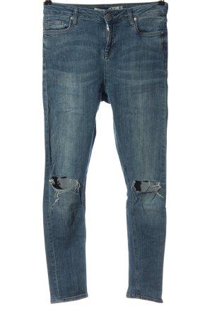 Denim Co. Jeans cigarette bleu style décontracté